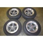 "American Racing Wheel 15""X7"" Grey Rim with Machined Rim"