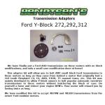 Transmission Adapter Y-Block 272 292 312, 1954, 1955, 1956, 1957, 1958, 1959